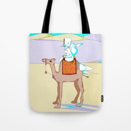 Women of the Earth Series: Woman of the Dessert and Camel Tote Bag