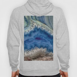 Blue green Australia shaped agate Hoody