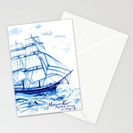 Set the sails! All aboard the Morgenster Stationery Cards