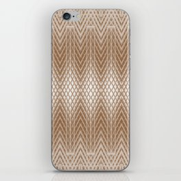 Cool Elegant Frosted Mocha Geometric Design iPhone Skin