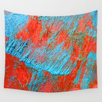 coral Wall Tapestries featuring Coral  by haroulita