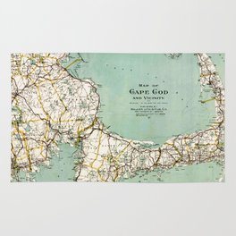 Cap Cod and Vicinity Map Rug