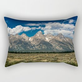 The Grand Tetons - Summer Mountains Rectangular Pillow