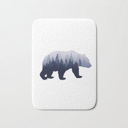 Bear in the Woods Bath Mat