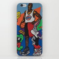 space jam iPhone & iPod Skins featuring Space Jam Shoes by pooleboy