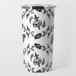 Striped Vine Tattoo Pattern Travel Mug