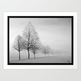 Fading Trees Art Print