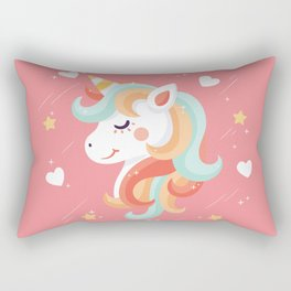 Cutest Unicorn Ever - Pink Rectangular Pillow