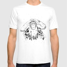 In the shadow of Man MEDIUM Mens Fitted Tee White