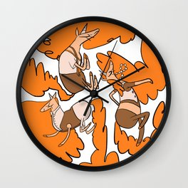 Fashion Po-Nays Orange Wall Clock