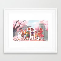 digimon Framed Art Prints featuring DIGIMON ADVENTURE by luttu