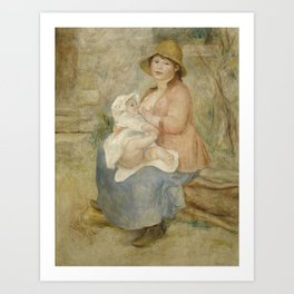 Maternity (Child at the breast) Art Print