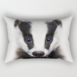 Baby Badger, Baby Animals Art Print By Synplus Rectangular Pillow