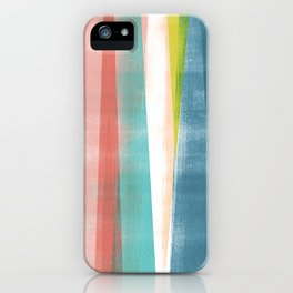 Colorful Geometric Abstract Minimalist Monotype iPhone Case