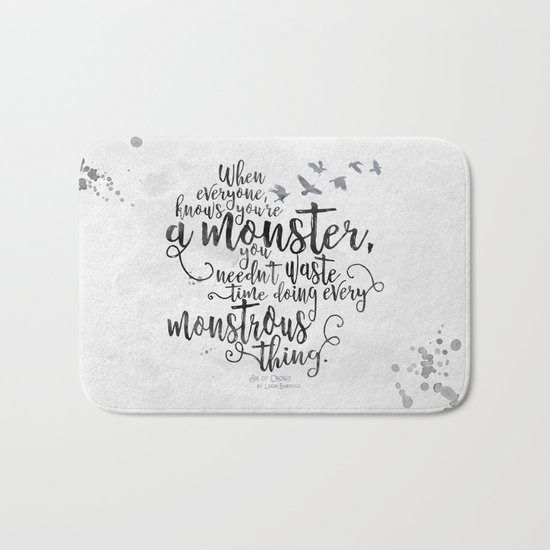Six of Crows - Monster - White Bath Mat