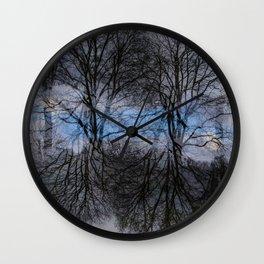 Abstract tress Wall Clock