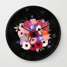floral topiary Wall Clock