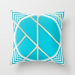Leaf - circle/line graphic Throw Pillow