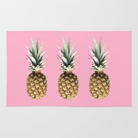 pineapples Area & Throw Rugs featuring Pineapples by Yilan