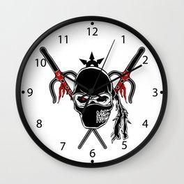 Cartoon Ninja zombie Face Wall Clock