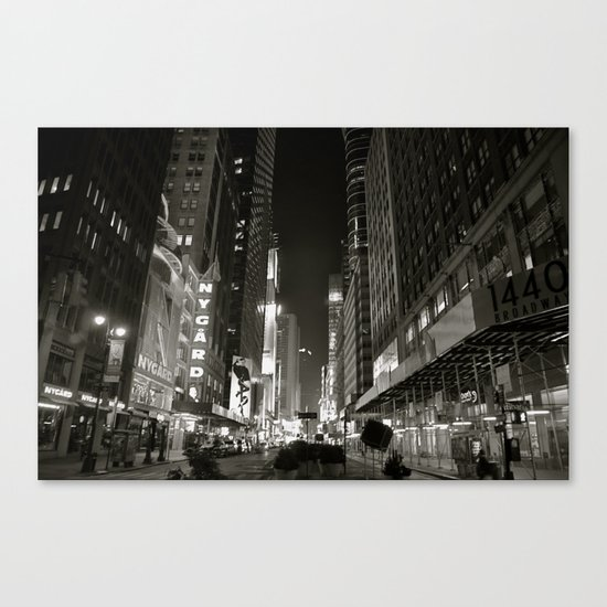 Times Square Noir Canvas Print