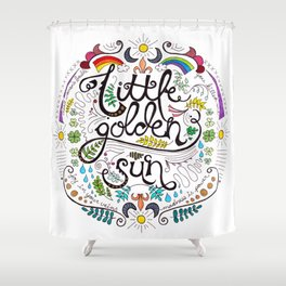 Little Golden Sun Shower Curtain