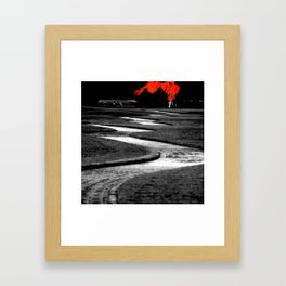 Where We'll Meet At The Big Red Tree Framed Art Print