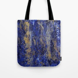 """""""Soul"""" Abstract textured art in blue & gold Tote Bag"""