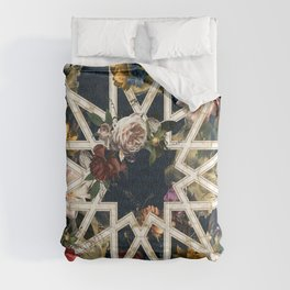 May The Floral Be With You Comforters
