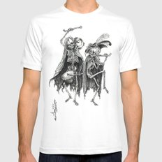 Danse Macabre (variation) MEDIUM Mens Fitted Tee White