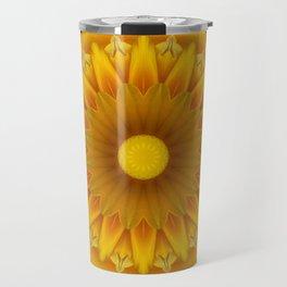 Daisy Mandala Travel Mug