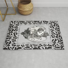 Skeleton Couple Marriage Dance Rug