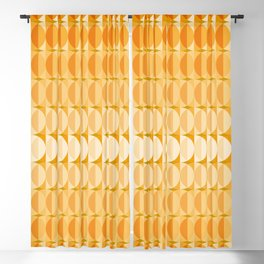 Leaves at autumn - a pattern in orange and brown Blackout Curtain
