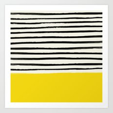 Sunshine x Stripes Art Print