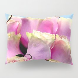 Bright Pink Rose Buds Exotic Floral Bouquet Pillow Sham