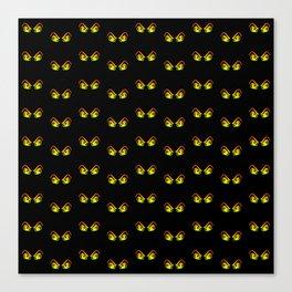 Horror Eyes Pattern Canvas Print