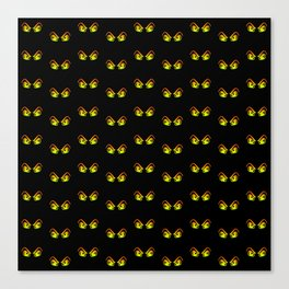Horror Eyes Pattern Canvas Print
