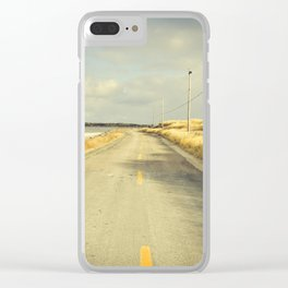The Road to the Sea Clear iPhone Case