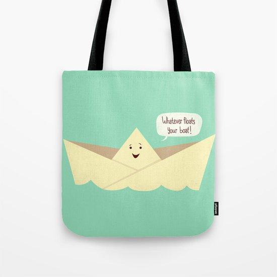 Happy boat Tote Bag
