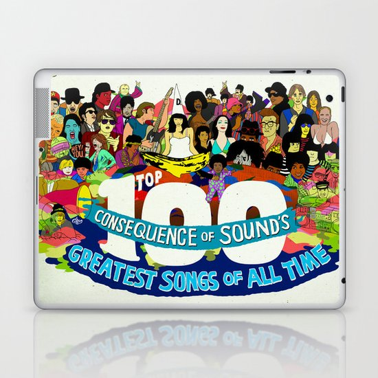 """Top 100 Greatest Songs of All Time"" by Steven Fiche Laptop & iPad Skin"