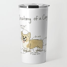 Anatomy of a Corgi Travel Mug