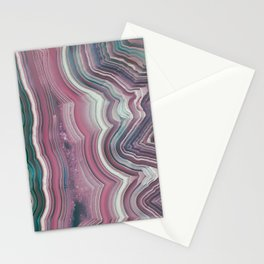 Candy Floss Agate Slice Stationery Cards