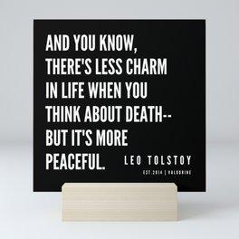 72 | Leo Tolstoy Quotes | 190608 Mini Art Print