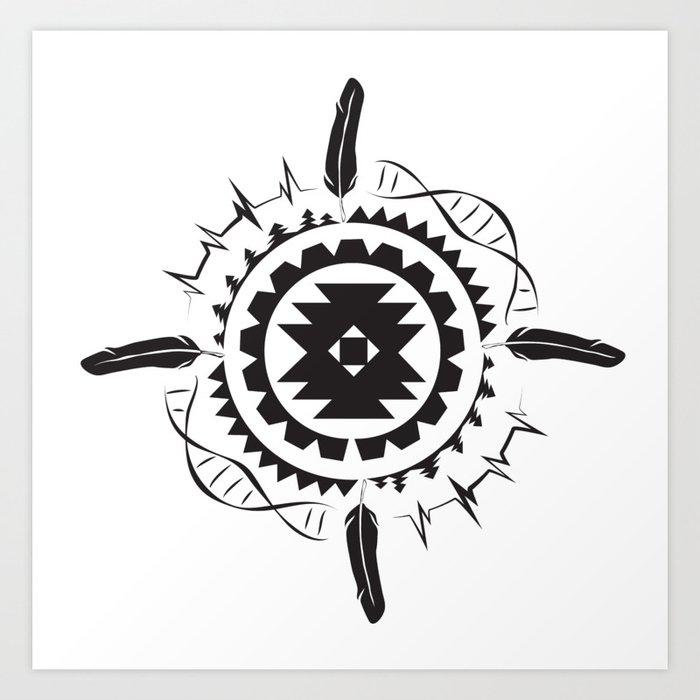 Native Amrican STEM Mandala Southwestern Art Print