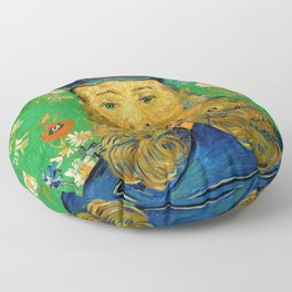 Vincent Van Gogh - Portrait of the Postman Joseph Roulin Floor Pillow