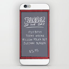 Burger of the Day, Zucchini iPhone Skin
