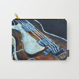 ~orignal Rachael Chatoor acrylic - bass on black~ Carry-All Pouch