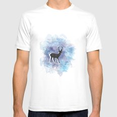 Somewhere In The Snow White Mens Fitted Tee MEDIUM