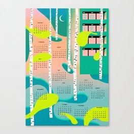 calendar 2019 blue Canvas Print