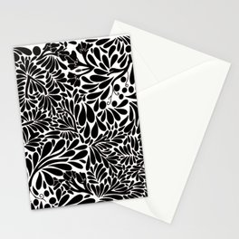 Abstract Jungle in Black and White Stationery Cards